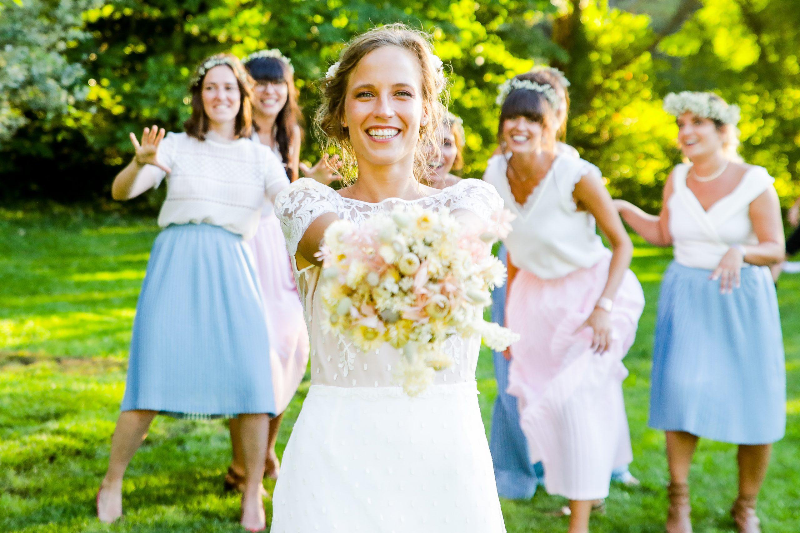 Photographie mariage - Photographe mariage - Paris- Montpellier - Nice - original - couché du soleil - Mariage Hérault - bouquet de fleurs mariage
