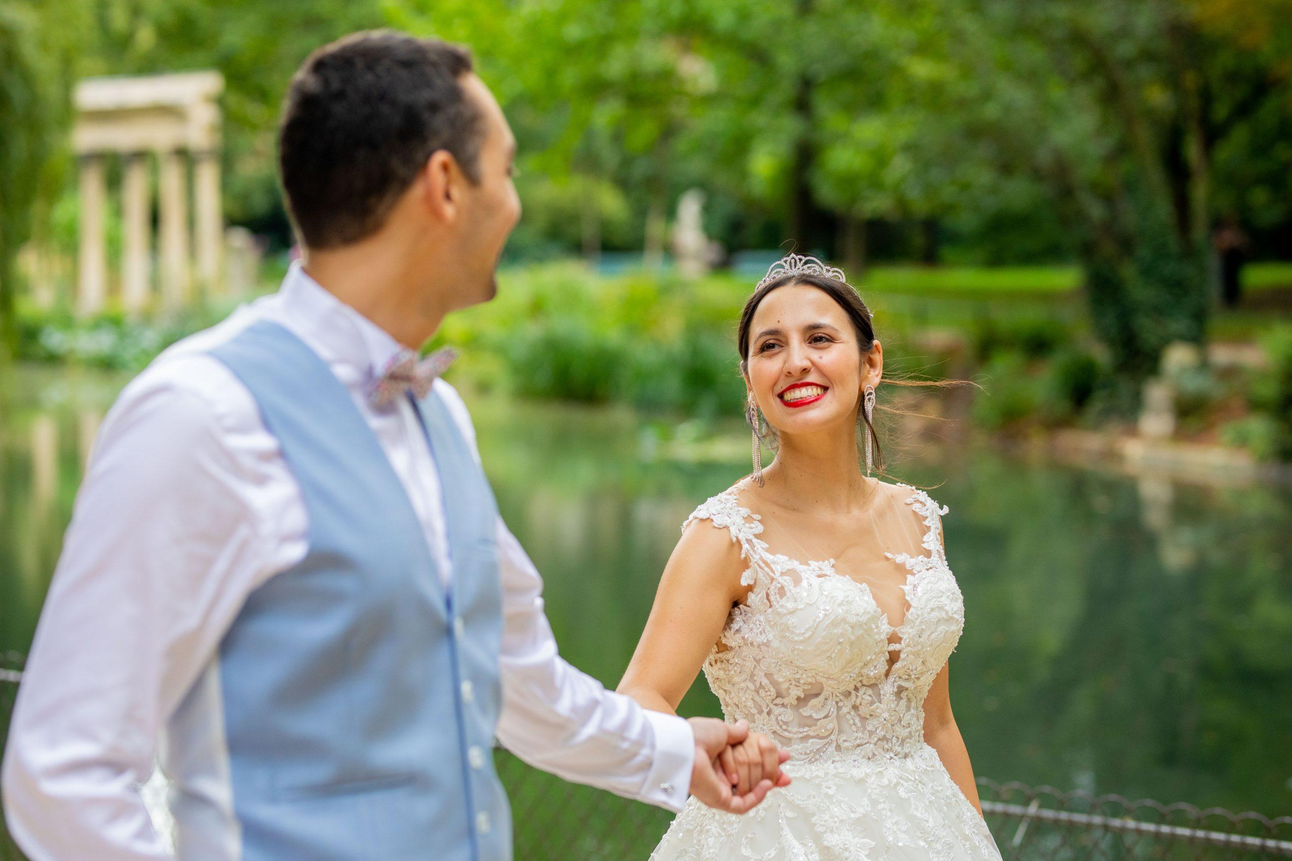 Photographe mariage - Paris - Montpellier - Nice - séance couple Parc Monceau - Photographe Paris