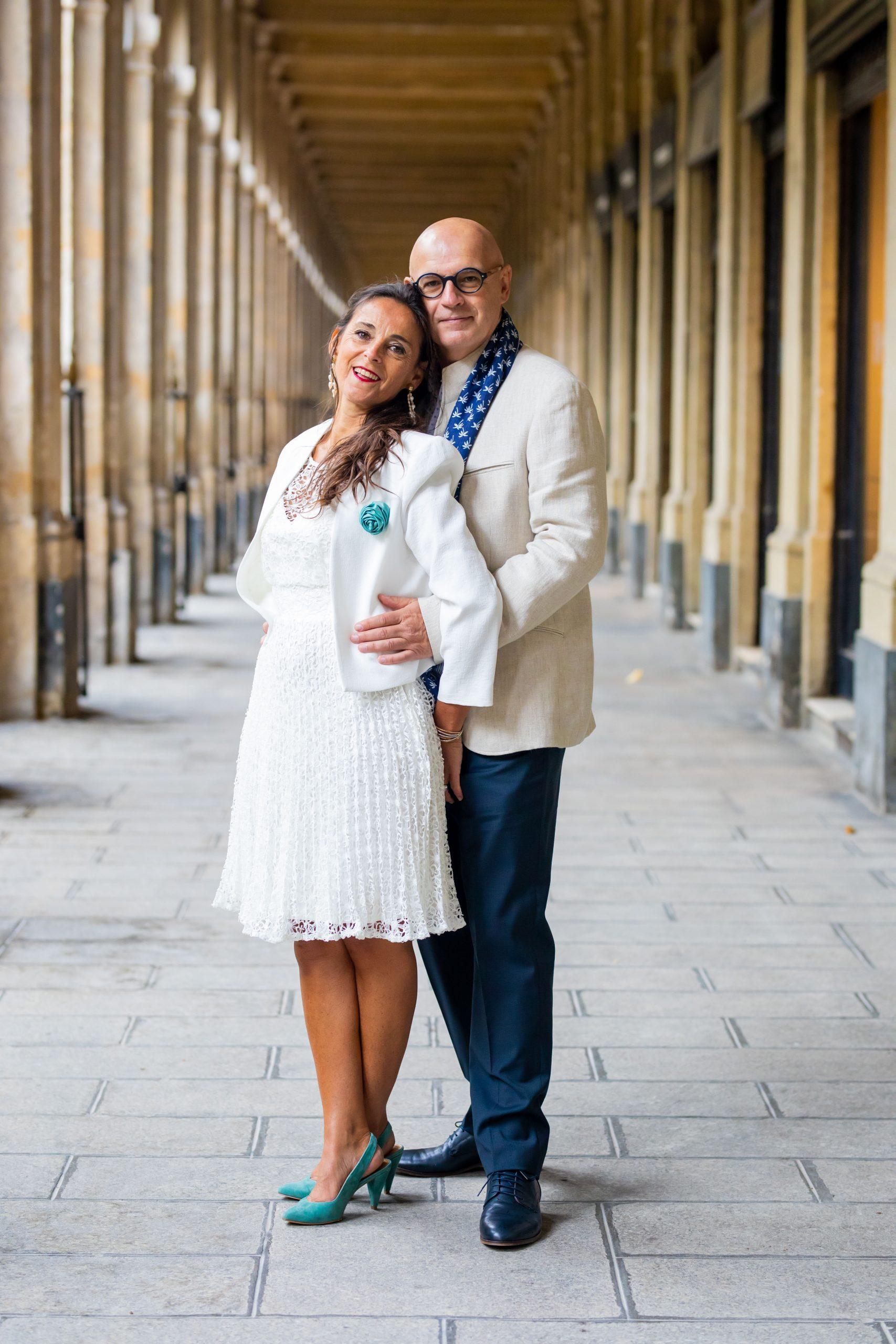 Mariage Paris - Photographe mariage Ile de France original - photographe couple Palais Royal, Paris
